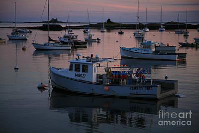 Harbor At Sunset Print by Timothy Johnson