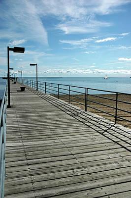 Walking Photograph - Harbor Beach Lake Huron Michigan by LeeAnn McLaneGoetz McLaneGoetzStudioLLCcom