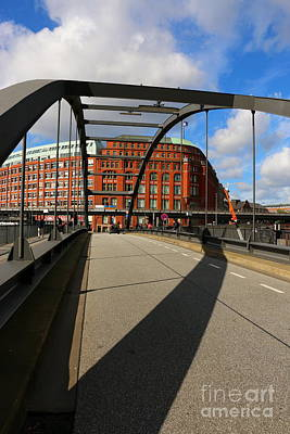 Medieval Temple Photograph - Harbor City Bridge Hamburg by Christiane Schulze Art And Photography