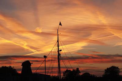 Harbor Sunset Original by Kim Lessel