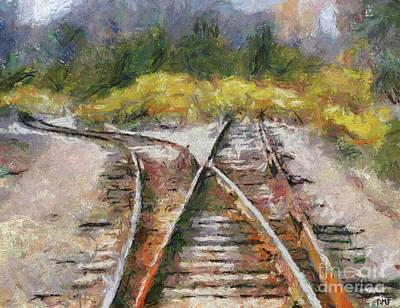 Railway Painting - Hard Decision by Dragica Micki Fortuna
