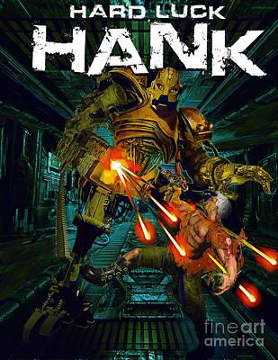 Noir Digital Art - Hard Luck Hank--mort by Steven Campbell