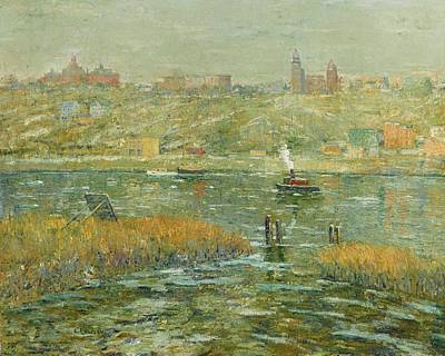 Harlem Painting - Harlem River by MotionAge Designs