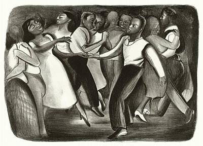 Harlem Drawing - Harlem Wpa Street Dance by Orchard Arts