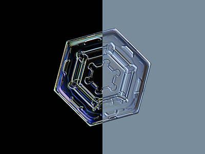 Crystals Photograph - Harlequin Snowflake II by Alexey Kljatov