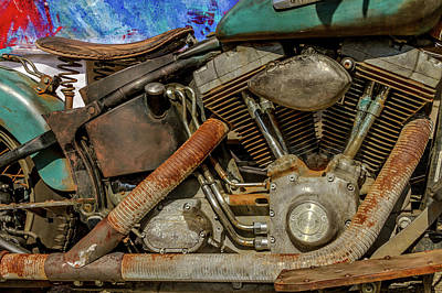 Classic Cycle Photograph - Harley Davidson - An American Icon by Bill Gallagher