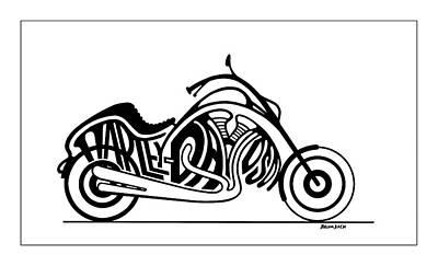 Harley-davidson Print by Dennis Baumbach