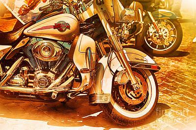Storage Digital Art - Harley Davidson Motor Cycles by Stefano Senise