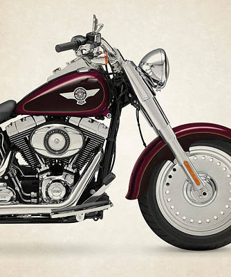 Harley Davidson Photograph - Harley-davidson-softail-fat-boy-2014 by Stephanie Hamilton