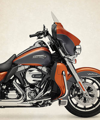 Harley Davidson Photograph - Harley-davidson-touring-electra-glide-ultra-classic-low-2015 by Stephanie Hamilton