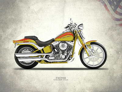 Harley Davidson Photograph - Harley Fxstsse Screamin Eagle by Mark Rogan