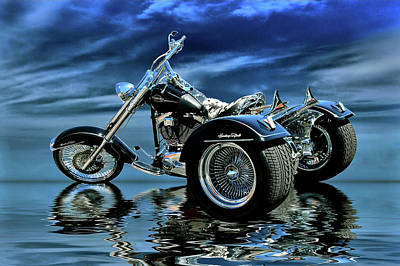 Photograph - Harley Heritage Soft Tail Trike by Steven Agius