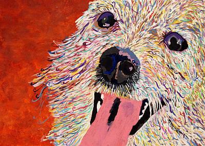 21st Drawing - Harley Pup by Debbie Davidsohn