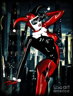 Riddler Digital Art - Harley Quinn by Alicia Hollinger