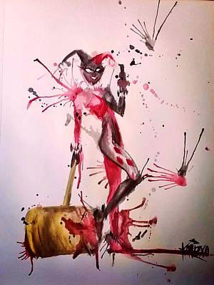 Drips Painting - Harley Quinn by Kariz Xo