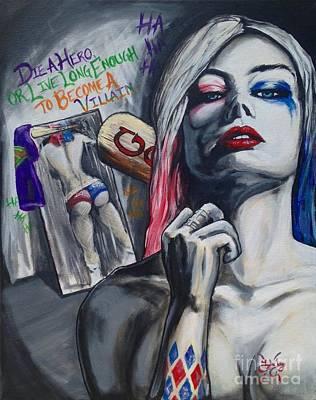 Margot Painting - Harley Quinn by Tyler Haddox