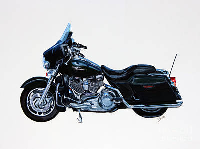 Painting - Harley Davidson Street Glide by Janet Felts