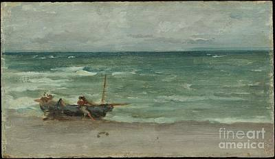 Whistler Painting - Harmony In Blue And Silver by James Abbott