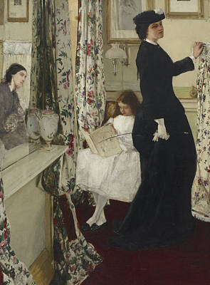Tonalist Painting - Harmony In Green And Rose The Music Room  by James Abbott McNeill Whistler