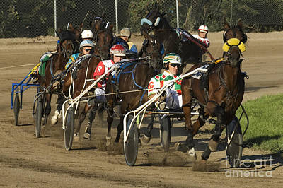 Harness Racing 9 Print by Bob Christopher