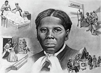 Tubman Painting - Harriet Tubman by Curtis James
