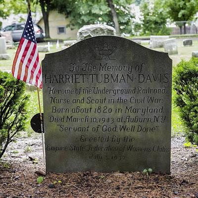 Tubman Photograph - Harriet Tubman Gravestone by Stephen Stookey