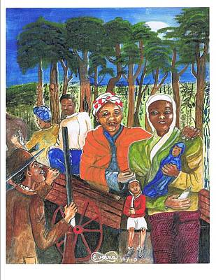 Harriet Tubman-take The Road Only To Twin Forks Original by Everna Taylor