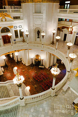 Harrisburg State Capitol Rotunda Print by Olivier Le Queinec