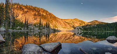 Harrison Lake Panoramic Print by Leland D Howard
