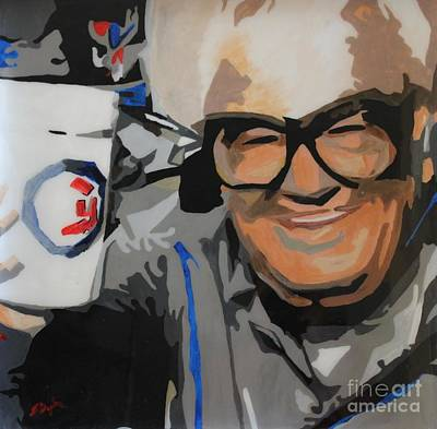 Major League Baseball Painting - Harry Caray by Steven Dopka