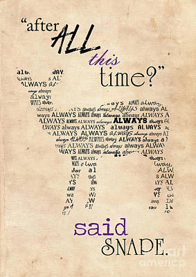 Harry Potter,severus Snape After All This Time, Always Poster Print by Pete Wardley