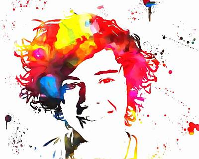 Taylor-swift Painting - Harry Styles Paint Splatter by Dan Sproul