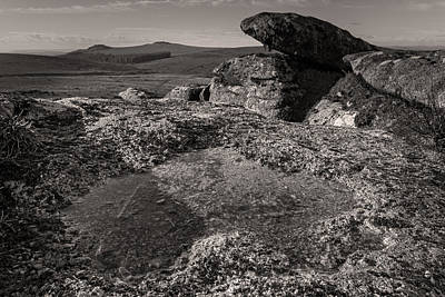 Hart Tor Sepia Print by Brian Northmore