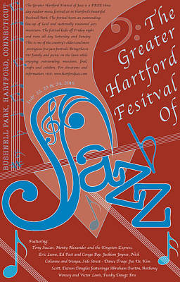 Hartford Festival Of Jazz Original by Leon Gorani