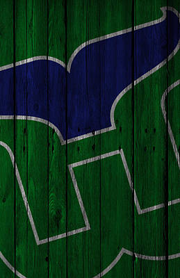 Ice Hockey Painting - Hartford Whalers Wood Fence by Joe Hamilton