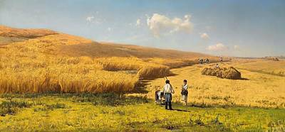 Gleaners Painting - Harvest In The Ukraine by Mountain Dreams