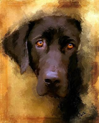 Black Labrador Puppies Painting - Harvest Lab by Robert Smith