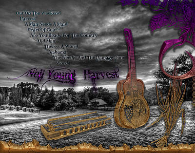 Neil Young Digital Art - Harvest by Michael Damiani