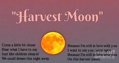 Neil Young Digital Art - Harvest Moon Song by John Malone