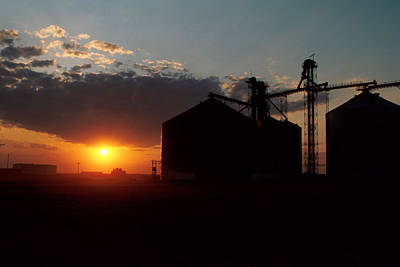 Farm Photograph - Harvest Sunset by Jerry McElroy