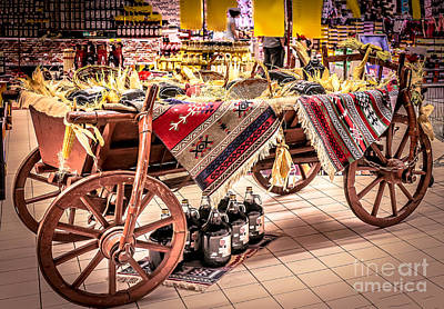 Wine Cart Photograph - Harvest Time by Claudia M Photography