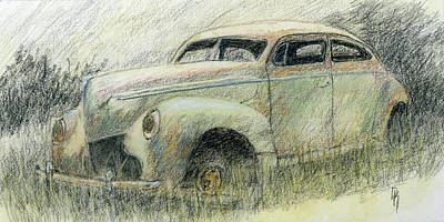 Antique Automobiles Drawing - Has Potential by David King