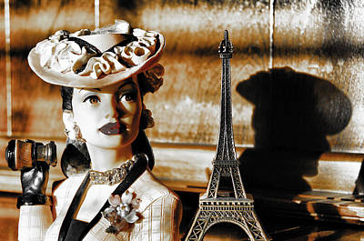 Hat Lady Of Paris Print by Greg Sharpe