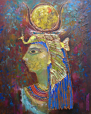 Hathor. Goddess Of Egypt Print by Valentina Kondrashova