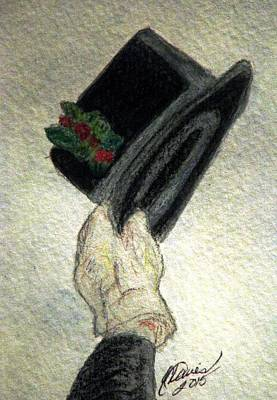 Hats Off To The Holidays Print by Angela Davies