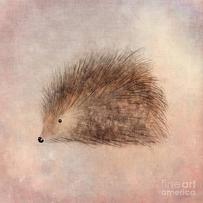 Adorable Digital Art - Hattie Hedgehog  by John Edwards