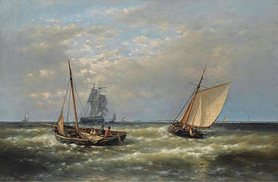 Hauling In The Nets Print by Abraham Hulk