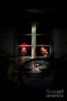 Hiding Photograph - Haunted Clown House by Jorgo Photography - Wall Art Gallery