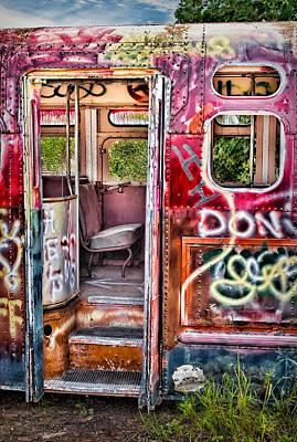 Haunted Graffiti Art Bus Print by Susan Candelario
