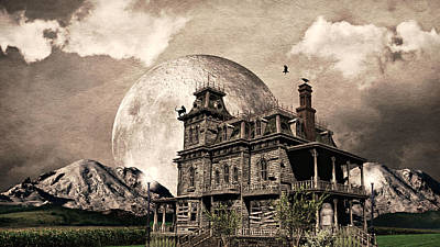 White House Mixed Media - Haunted Haven by Ally  White